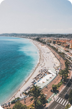 View of Nice from the promenade
