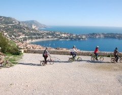 Cycling in Villefranche-Sur-Mer